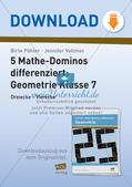 Mathe-Dominos Geometrie: Dreiecke, Vierecke (differenziert) Preview 1
