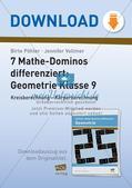 Mathe-Dominos Geometrie: Kreisberechnung, Körperberechnung (differenziert) Preview 1