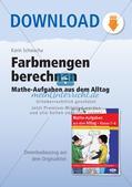 Mathe-Aufgaben aus dem Alltag: Farbmengen berechnen Preview 1