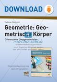 Geometrische Körper: Differenzierte Übungsmaterialien Preview 1