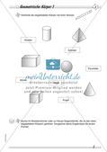 Geometrische Körper: Differenzierte Übungsmaterialien Preview 4