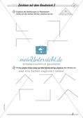 Zeichnen mit Geodreieck und Zirkel: Differenzierte Übungsmaterialien Preview 4