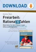 Freiarbeit: Rationale Zahlen Preview 1