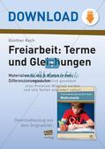 Freiarbeit: Terme und Gleichungen Preview 1