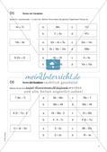 Freiarbeit: Terme und Gleichungen Preview 6
