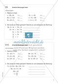 Freiarbeit: Terme und Gleichungen Preview 8