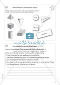 Freiarbeit: Geometrische Körper Preview 5
