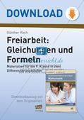 Freiarbeit: Gleichungen und Formeln Preview 1