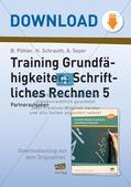 Training der Grundfähigkeiten: Schriftliche Rechenverfahren Preview 1