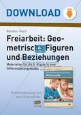 Geometrische Figuren und Beziehungen: Materialien in zwei Differenzierungsstufen Preview 1