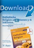 Stationenarbeit Katholische Religion: Jesus begegnen Preview 1