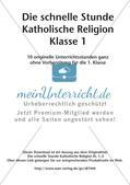 Die schnelle Stunde Kath. Religion: Klasse 1 Preview 2