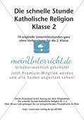Die schnelle Stunde Kath. Religion: Klasse 2 Preview 2