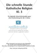Die schnelle Stunde Kath. Religion: Klasse 3 Preview 2