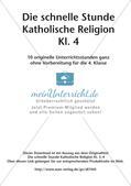 Die schnelle Stunde Kath. Religion: Klasse 4 Preview 2