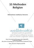 Methoden Religion: Wahrnehmen meditativer Elemente Preview 2