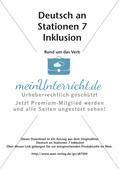 Stationsarbeit Inklusion: Rund um das Verb Preview 2