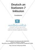 Stationsarbeit Inklusion: Fremdwörter Preview 2
