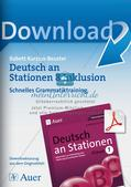 Stationsarbeit Inklusion: Schnelles Grammatiktraining Preview 1
