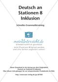 Stationsarbeit Inklusion: Schnelles Grammatiktraining Preview 2