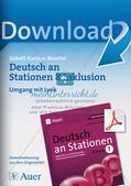Stationsarbeit Inklusion: Umgang mit Lyrik Preview 1