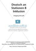 Stationsarbeit Inklusion: Umgang mit Lyrik Preview 2