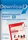 Deutsch kooperativ: Inhaltsangaben erfassen und überarbeiten Preview 1