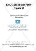 Deutsch kooperativ: Inhaltsangaben erfassen und überarbeiten Preview 2