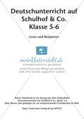 Deutsch auf dem Schulhof: Lesen und Rezipieren Preview 2