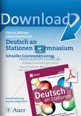 Stationsarbeit: Schnelles Grammatiktraining Preview 1