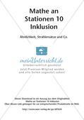Mathe an Stationen - Inklusion: Ähnlichkeit, Strahlensätze und Co. Preview 2