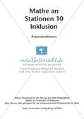 Mathe an Stationen - Inklusion: Potenzfunktionen Preview 2
