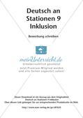 Deutsch an Stationen/Inklusion: Bewerbung schreiben Preview 2