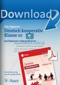 Deutsch kooperativ     Karikaturen interpretieren  Schreibgespräch   szenische Darstellungsform Preview 1