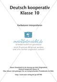 Deutsch kooperativ     Karikaturen interpretieren  Schreibgespräch   szenische Darstellungsform Preview 2