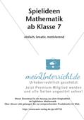 Spielideen Mathematik ab Klasse 7 Preview 2