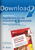 Regelkarten Grammatik: Wörter und Wortbildung Preview 1