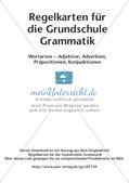 Regelkarten Grammatik: Adjektive, Adverbien, Präpositionen, Konjunktionen Preview 2