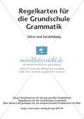 Regelkarten Grammatik: Sätze und Satzbildung Preview 2