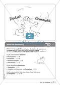 Regelkarten Grammatik: Sätze und Satzbildung Preview 3