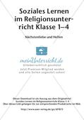 Soziales Lernen im Religionsunterricht: Nächstenliebe und Helfen Preview 2