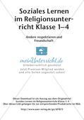 Soziales Lernen im Religionsunterricht: Respekt und Freundschaft Preview 2