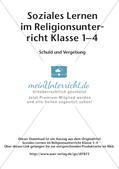 Soziales Lernen im Religionsunterricht: Schuld und Vergebung Preview 2