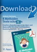 Methodensammlung: Texte schreiben Preview 1