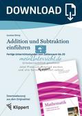 Einführung von Addition und Subtraktion Preview 1