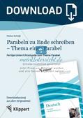 Parabeln zu Ende schreiben - Thema einer Parabel Preview 1