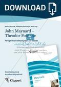 """John Maynard - Theodor Fontane; Lernspirale; Begriff des """"Helden"""" reflektieren; Inhalt und Hintergrund einer Ballade rekonstruieren; Rollenspiel Preview 1"""