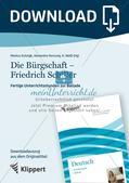 Die Bürgschaft - Friedrich Schiller;  Grafische Darstellung des Spannungsverlaufs einer Ballade; Präsentation Preview 1