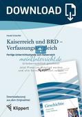 Fertige Unterrichtsstunde zum Kaiserreich: Kaiserreich und BRD - Verfassungsvergleich Preview 1