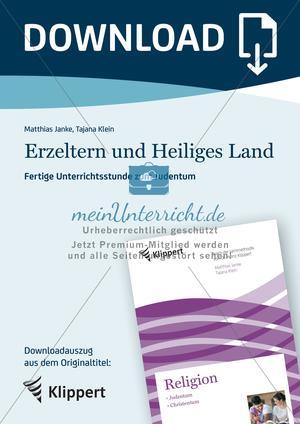 Fertige Unterrichtsstunden zum Judentum: Erzeltern und Heiliges Land